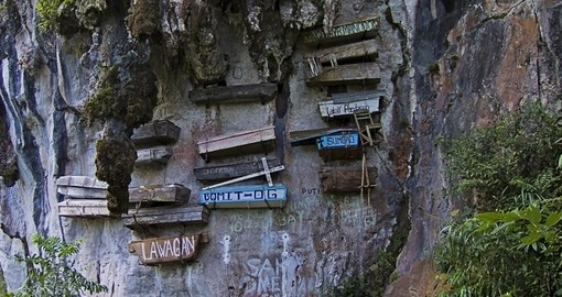 Marvel at the splendor that is the Sagada's Hanging Coffins on one of your Philippine Tours
