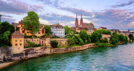 Basel, Switzerland's cultural capital blends a beautiful old town with modern modern architecture