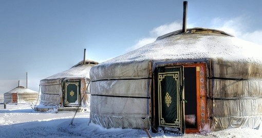 Yurt's - Portable bent wood-framed dwellings