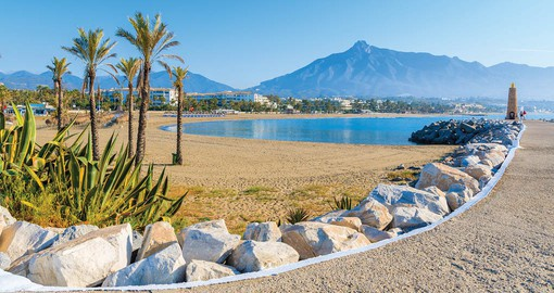 Beach in Marbella, Costa del Sol