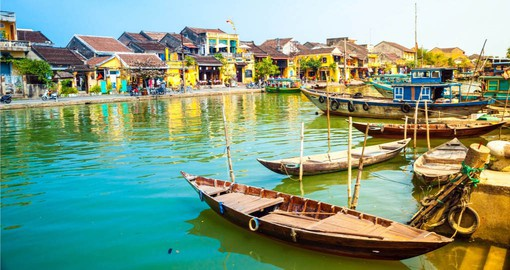 Next on your Vvietnam vacation package is Hoi An and it's famous wooden structures