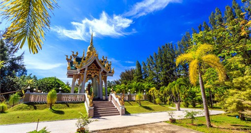 Experience the beautiful architecture of  Wat Mai Khao Temple in Phuket during your next Thai vacations.