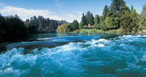 Explore beautiful Huka Falls in Taupo during your next New Zealand vacations.