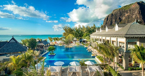 Relax by the pool on your Mauritius vacation