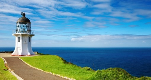 Cape Reinga lighthouse is a great inclusion on all New Zealand tours.
