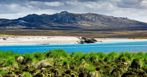 Rugged mountain range in the Falkland Islands