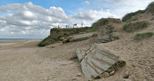 Utah Beach is one of the two American landing zones used on D-Day