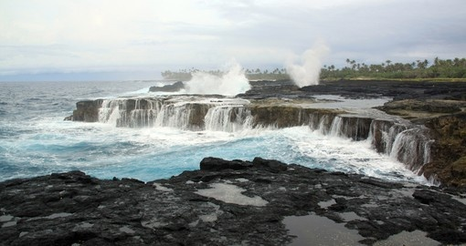 Black Lava coastline