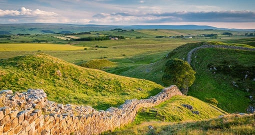 Stroll along some of ancient Hadrian's Wall on your Scotland Tour