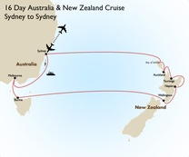 16 Day Australia & New Zealand Cruise: Sydney to Sydney