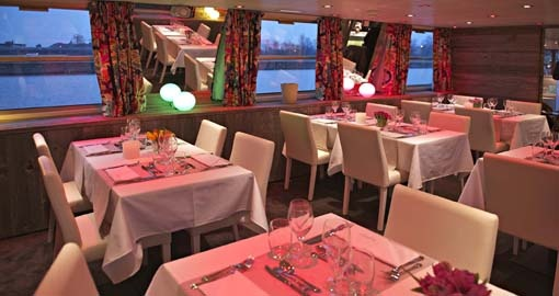The Restaurant on the MS Jeanine.