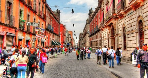 A stroll through the buzzing downtown area of Mexico City reveals the capital's rich history