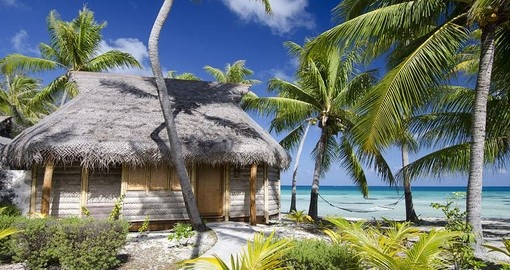 Discover beauty of the Tikehau Pearl Beach Bungalow during your next Tahiti tours.