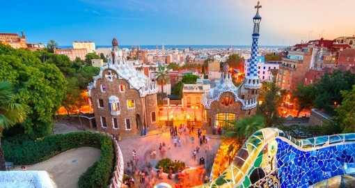 Explore colorful Park Guell in Barcelona during your next Spain vacations.