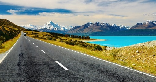 You will see Mount Cook and Pukaki Lake during your trip in New Zealand