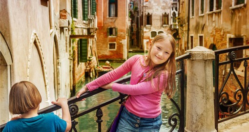 Explore Venice's maze of canals with the family