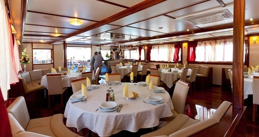 Dining Aboard Katarina Cruises Deluxe Liberty Ship