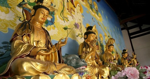 Buddha statues in Chinese temple