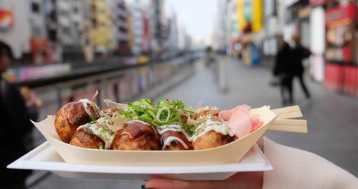 Takoyaki Ball Dumplings are the most popular snack food in Japan