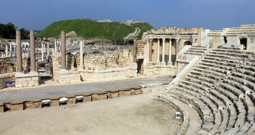 Ancient Roman amphitheater in Beit Shean
