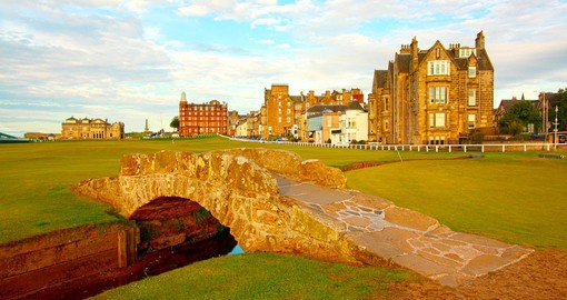The Swilcan, a 700 year old bridge spanning the first and 18th holes on the Old Course