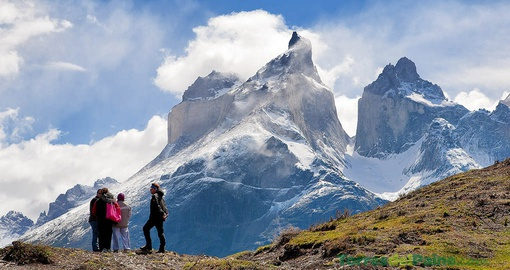 Trek from las torres lodge patagonia