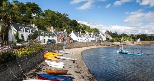 Plockton village in the Highlands
