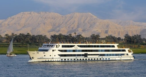 Enjoy a luxurious cruise on your Egypt vacation with the Oberoi Zahra.