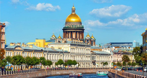 Your Russian tour begins in St Petersburg and a visit to Saint Isaac Cathedral