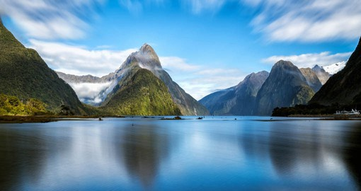 New Zealand's most stunning natural attraction, Milford Sound lies deep within Fiordland National Park