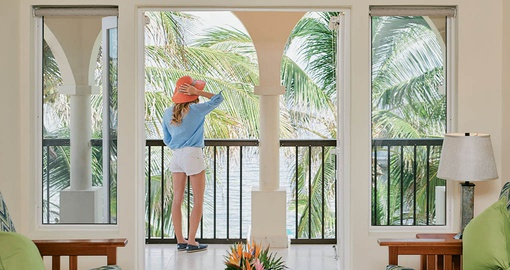 Ocean Front Suite with a view over the cocoa palms