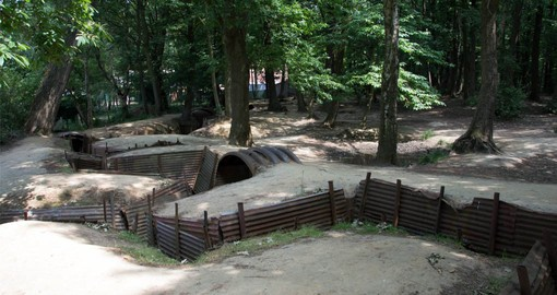Trench warfare in World War I was employed primarily on the Western Front, an area of northern France and Belgium