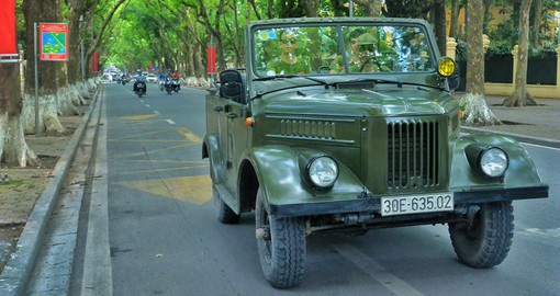 The Soviet GAZ Jeep provides a unique platform from which to discover Hanoi