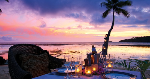 Romantic sunset & dinner on the beach