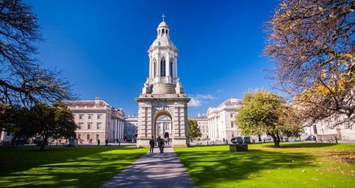 Stunning Trinity College - a must inclusion to have when booking your Ireland vacation package.