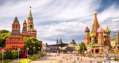 Final stop on your Europe vacation and a visit to St Basil's Cathedral and Spassky Tower on Red Square in Moscow