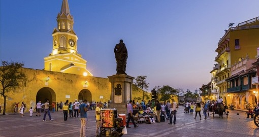 Enjoy the spicy nightlife of Cartagena on your Colombia vacation