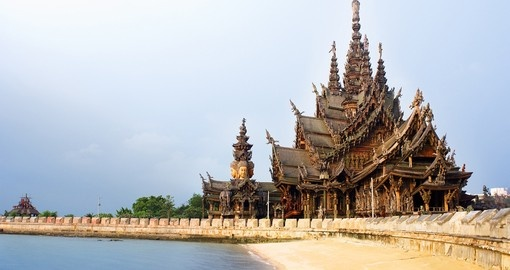 The Sanctuary of Truth is an extremely popular inclusion on Thailand tours.