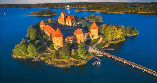 Begin your Europe Vacation with a visit to Trakai, the medieval capital of Lithuania