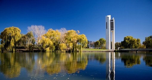 The national carillon located on Lake Burley Griffin