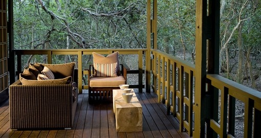 Enjoy all the amenities of the Phinda Forest Lodge  on your next South Africa tours.