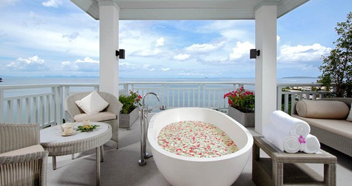 Enjoy the beautiful Phuket sea view from the treatment rooms