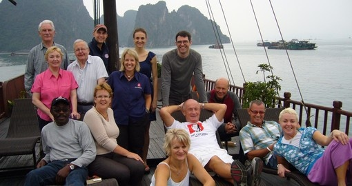 Relaxing in Halong Bay