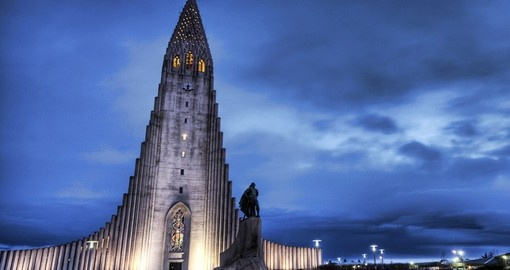 Visit Hallgrimskirkja Cathedral in Reykjavik and explore its beautiful architecture on your next Iceland vacations.
