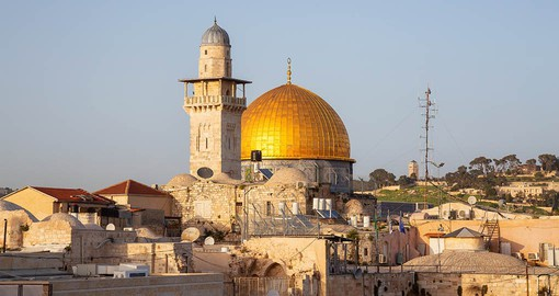 Dome of the Rock and the Western Wall, Jerusalem