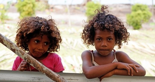 Melanesian children of Papua New Guinea
