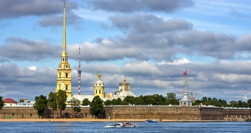 The Peter and Paul Fortress in St.Petersburg is a must-see during any Russia vacation
