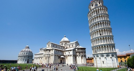 Piazza dei Miracoli and The Leaning Tower of Pisa