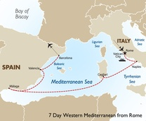 7 Day Western Mediterranean from Rome