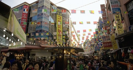 Largest traditional market in South Korea